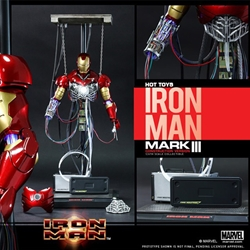 Picture of Hot Toys Diorama Series Iron Man 1/6 Scale Mark III Construction Version