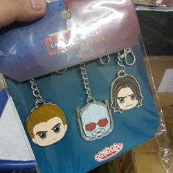 Picture of Hot Toys - Captain America Civil War - Metal Keychains Set of 3