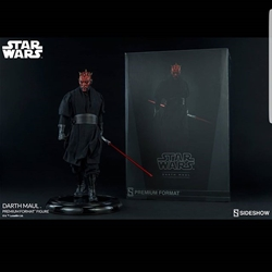 Picture of Sideshow Exclusive Start Wars Darth Maul Statue with Exclusive Swap Out Hand with Light-up Severed Light Saber