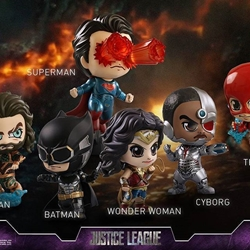 Picture of Hot toys cosbaby justice league set of 6 figurines ..